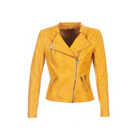 Only ONLAVA women's Leather jacket in Yellow
