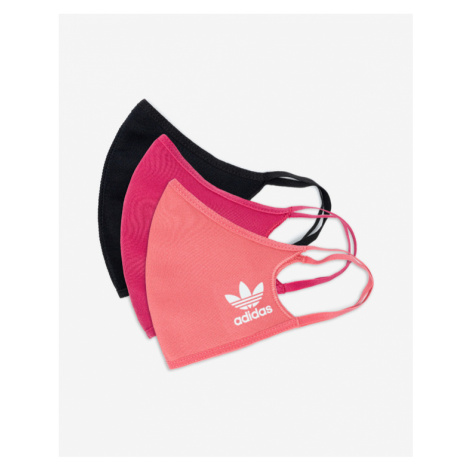 adidas Originals Face mask 3 pcs Black Pink