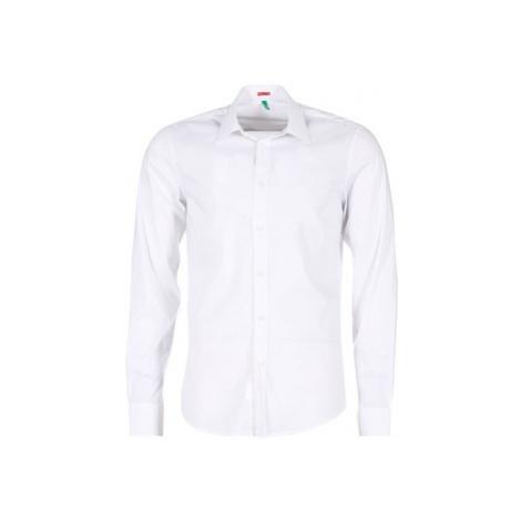 Benetton MERLO men's Long sleeved Shirt in White United Colors of Benetton
