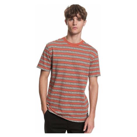 T-Shirt Quiksilver Jacquard Destin - MNL3/Redwood Jacquard Destin - men´s