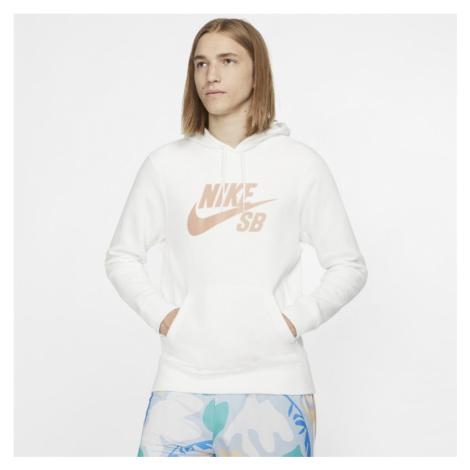 Nike SB Icon Pullover Skate Hoodie - White