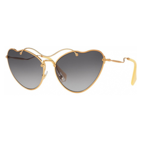 Miu Miu Woman MU 55RS - Frame color: Gold, Lens color: Grey-Black, Size 65-18/135