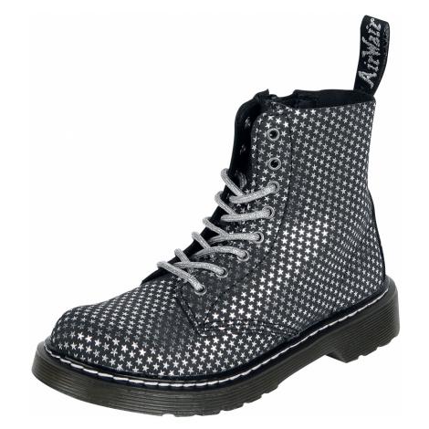 Dr. Martens - 1460 Pascal Junior Black Silver Stars Designer Suede Ds-318 - Children's shoes - b Dr Martens