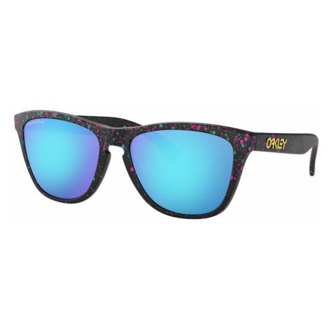 Oakley Man OO9013 Frogskins™ - Frame color: Black, Lens color: Blue, Size 55-17/139