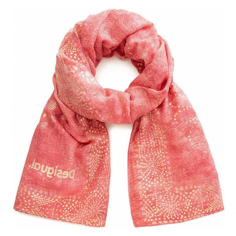 shawl Desigual 20SAWA44/Galaxy - 3069/Red Ocre - women´s