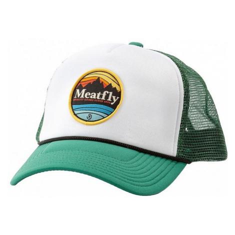 cap Meatfly Brisk Trucker - A/Green Sea/White