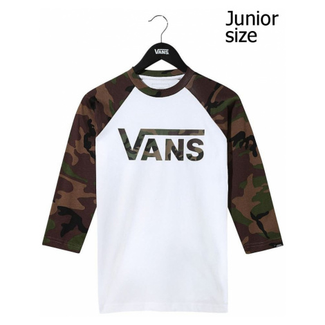 T-Shirt Vans Classic Raglan - White/Camo - boy´s