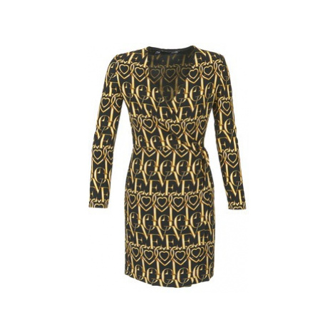 Love Moschino VUELO women's Dress in Black
