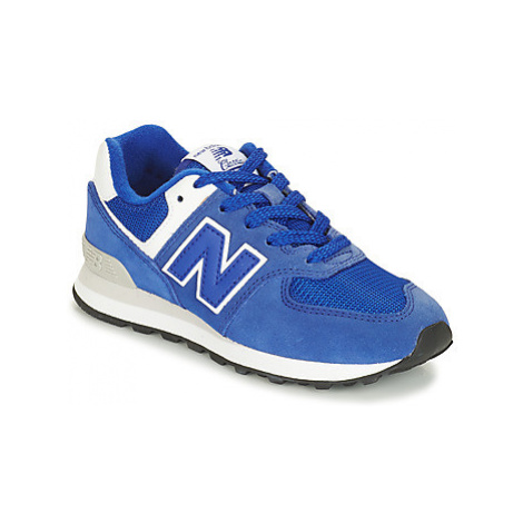 New Balance PC574 girls's Children's Shoes (Trainers) in Blue