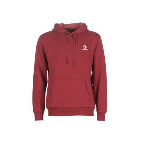 Converse STAR CHEVRON EMBROIDERED PO HOODIE men's Sweatshirt in Red