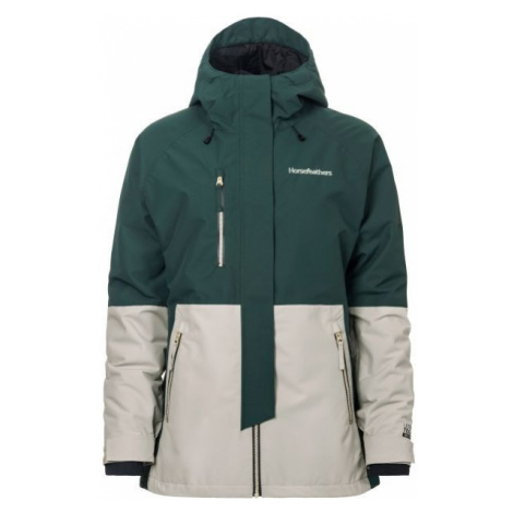 Horsefeathers AIRI JACKET green - Women's ski/snowboard jacket