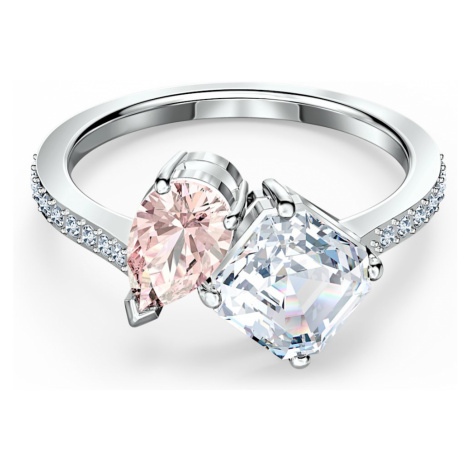 Attract Soul Ring, Pink, Rhodium plated Swarovski