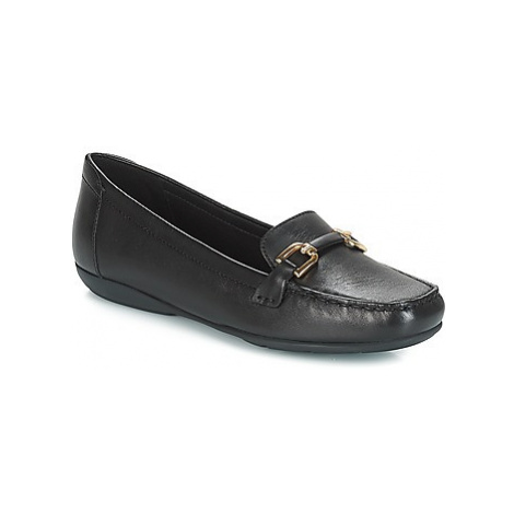 Geox D ANNYTAH MOC women's Loafers / Casual Shoes in Black