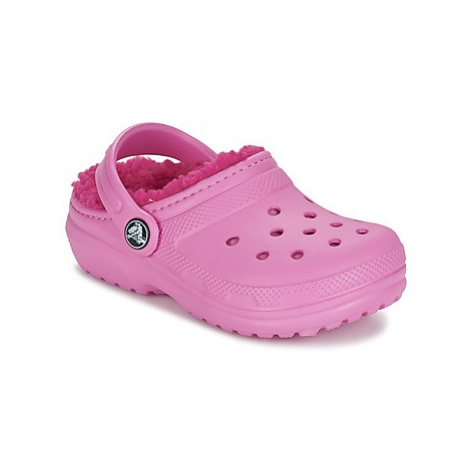 Crocs CLASSIC LINED CLOG K girls's Children's Clogs (Shoes) in Pink
