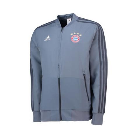 FC Bayern UCL Training Presentation Jacket - Grey Adidas