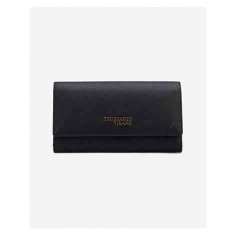 Trussardi Jeans Bella Continental Large Wallet Black