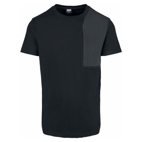 Urban Classics - Military Shoulder Pocket Tee - T-Shirt - black