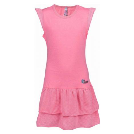 Lewro LASCO pink - Girls' Dress with Ruffles