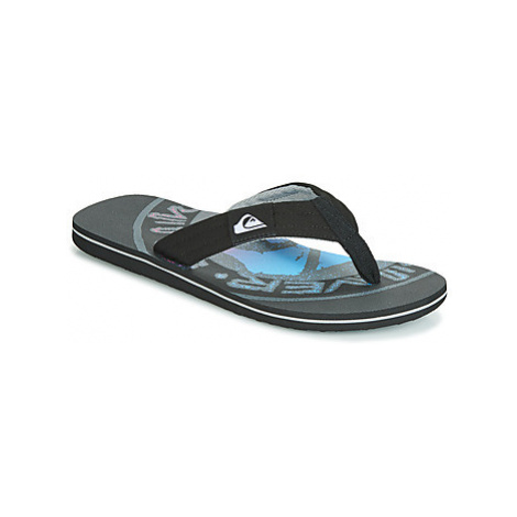 Quiksilver MOLOKAI LAYBACK M SNDL XKKS men's Flip flops / Sandals (Shoes) in Black