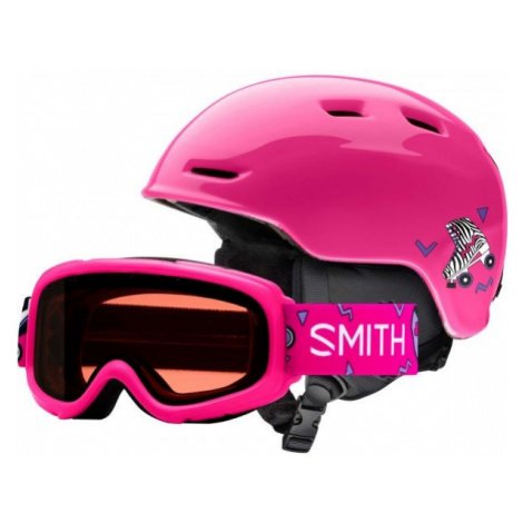 Smith ZOOM JR pink - Kids' ski helmet