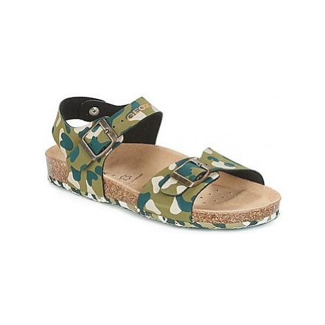 Geox J N.SAN.STORM B. B boys's Children's Sandals in Green
