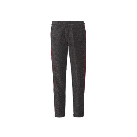 Maison Scotch TAPERED LUREX PANTS WITH VELVET SIDE PANEL women's Trousers in Grey Scotch & Soda