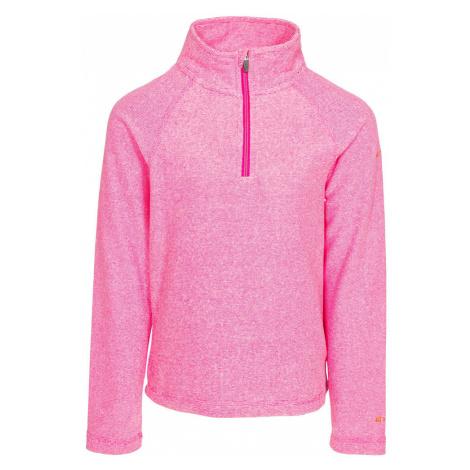 Trespass Girls Meadows Fleece-Pink Lady-11-12 Years