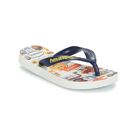Havaianas KIDS EMOJI MOVIE boys's Children's Flip flops / Sandals in White