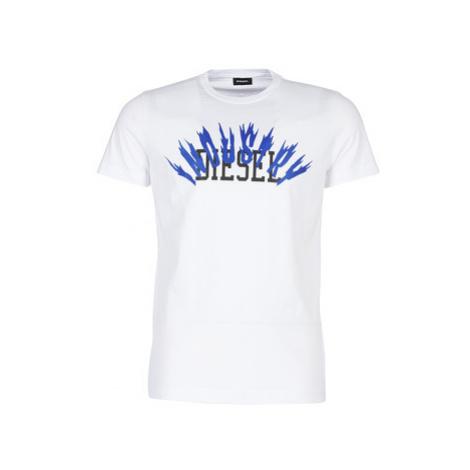 Diesel T DIEGO A10 men's T shirt in White
