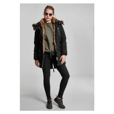 Urban Classics Ladies Imitation Fur Parka black