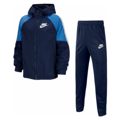 Nike NSW WOVEN TRACK SUIT B dark blue - Boys' tracksuit