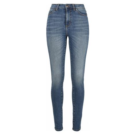 Urban Classics - Ladies High Waist Skinny Jeans - Girls jeans - blue