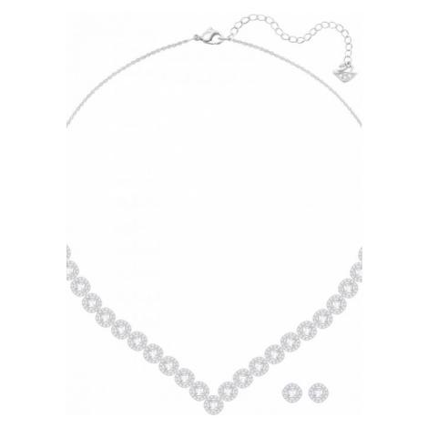 Ladies Swarovski Silver Plated Angelic Set 5364318
