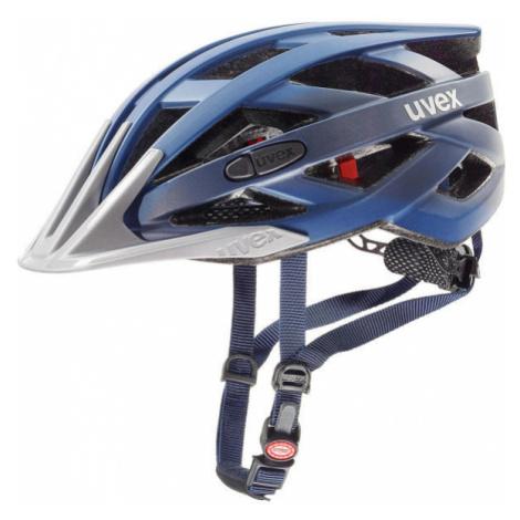 Blue cycling helmets