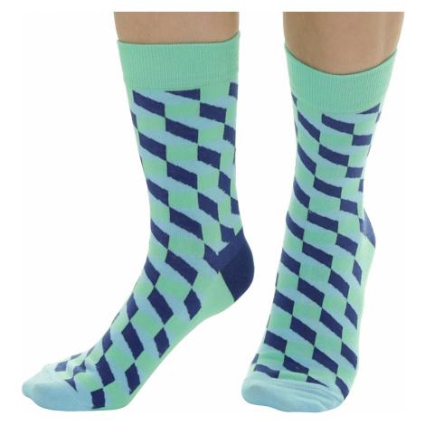 socks Meatfly 3D Checkers - B/Blue/Green