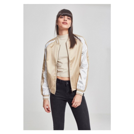 Urban Classics Ladies 3-Tone Souvenir Jacket gold/offwhite/gold