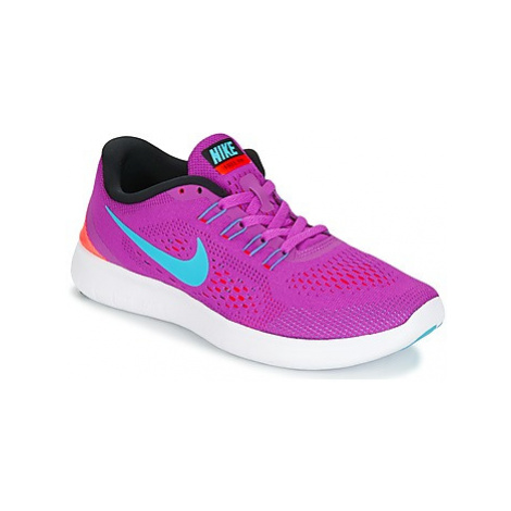 Nike FREE RUN W women's Running Trainers in Purple