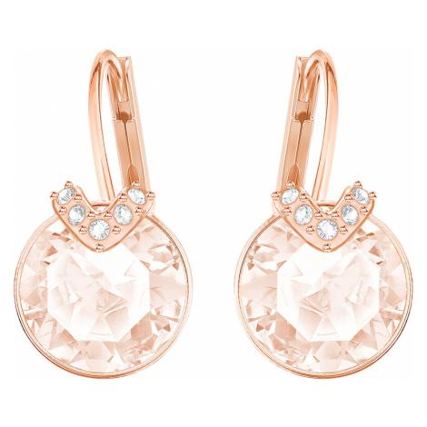 Bella V Pierced Earrings, Pink, Rose-gold tone plated Swarovski