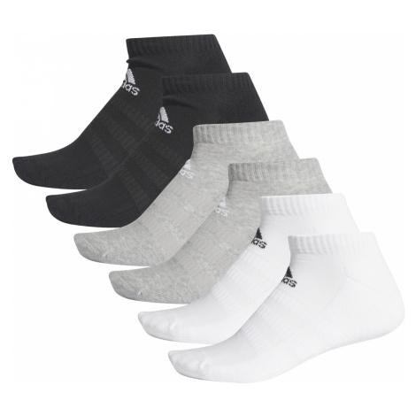 adidas Performance Cush Socks 6 pairs Black White Grey