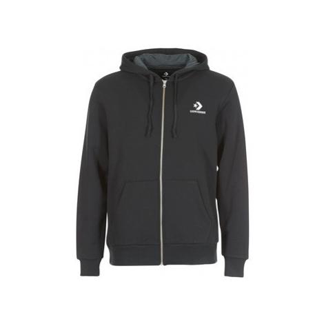 Converse CONVERSE STAR CHEVRON EMBROIDERED FZ HOODIE men's Sweatshirt in Black