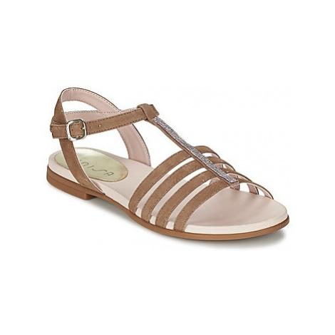 Unisa LEIRE girls's Children's Sandals in Brown