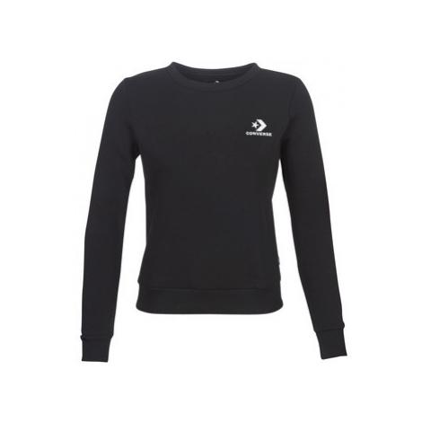 Converse STAR CHEVRON EMBROIDERED CREW women's Sweatshirt in Black