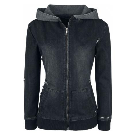Forplay Destroyed Denim Jacket Jeans Jacket black