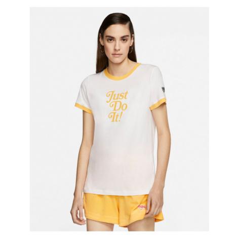 Nike Ringer T-shirt Yellow White