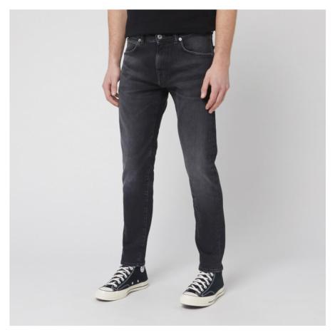 Edwin Men's ED-85 Slim Tapered Drop Crotch Jeans - Black Kioko Wash