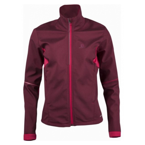 Salomon AGILE SOFTSHELL JKT W red wine - Women's softshell jacket