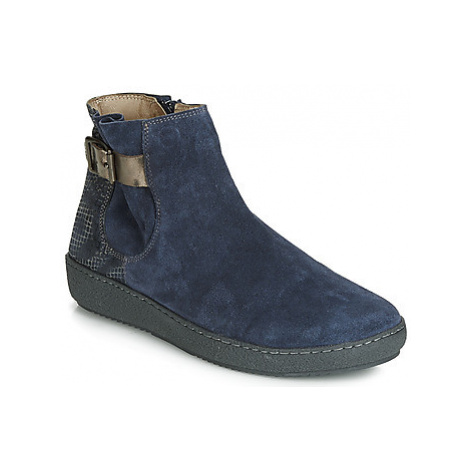 Casta HAJA women's Mid Boots in Blue