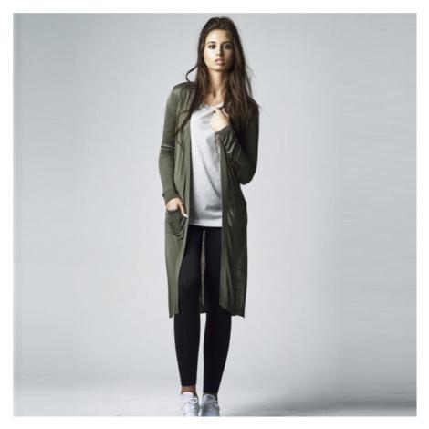 Urban Classics Ladies Fine Knit Long Cardigan olive