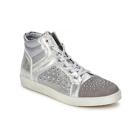 Hip 90CR women's Shoes (High-top Trainers) in Silver