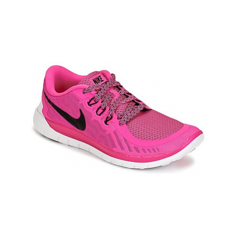 Nike FREE 5.0 JUNIOR girls's Children's Shoes (Trainers) in Pink